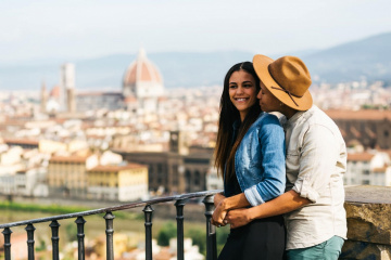 Romantic engagement in Florence, Italy, Laura Barbera photographer, #7847
