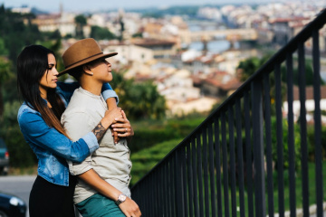 Romantic engagement in Florence, Italy, Laura Barbera photographer, #7852