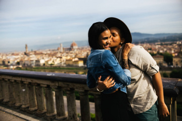 Romantic engagement in Florence, Italy, Laura Barbera photographer, #7851