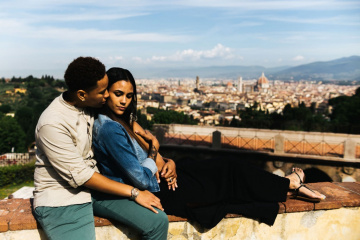 Romantic engagement in Florence, Italy, Laura Barbera photographer, #7869
