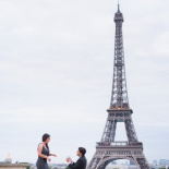 Caitlin & Gustavo's surprise proposal in Paris