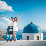 Afterwedding Scotland Photoshoot In Santorini