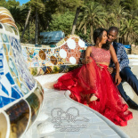 Photo shoot at Park Guell in Barcelona, Spain