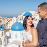 Kym and Arvin | Santorini maternity photoshoot