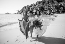 Boho-chic wedding in Seychelles