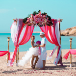 """Pearl Island"" Wedding ceremony on an island in Egypt, Red Sea, Hurghada."