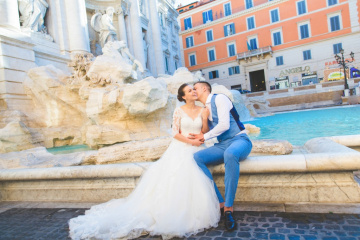 wedding photo shoot in Rome by photographer Dmitry Agishev